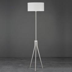 Lámpara de pie Despina en plata con tres patas