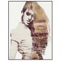 Cuadro impresión Modelo y París en blanco y negro