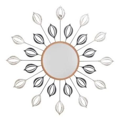 Comprar espejo decorativo redondo metal plata negro y cobre for Espejos finos decorativos
