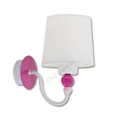 Aplique infantil de metal blanco rosa pantalla tela blanca