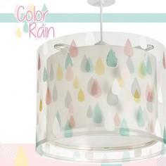 Lámpara de techo infantil Color Rain con gotitas de colores