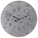 Reloj decorativo de pared redondo en plata