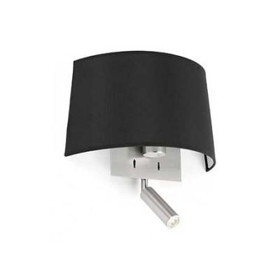 Aplique Volta con lector LED en cromo con pantalla negra