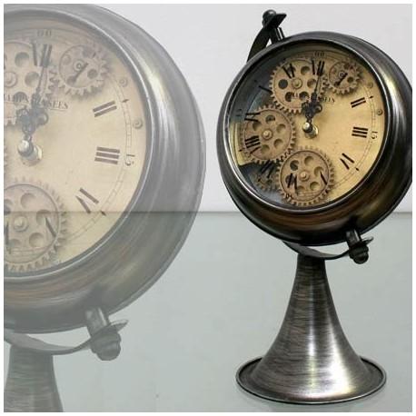 Comprar reloj de sobremesa mecanismo con pie en metal plata - Mecanismo reloj pared ...