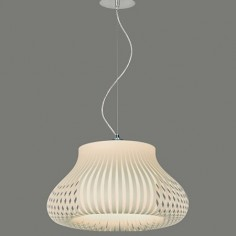 Lámpara colgante Nanok con tiras en color beige