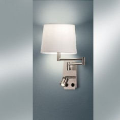 Aplique pared Aram con lector LED y pantalla orientables