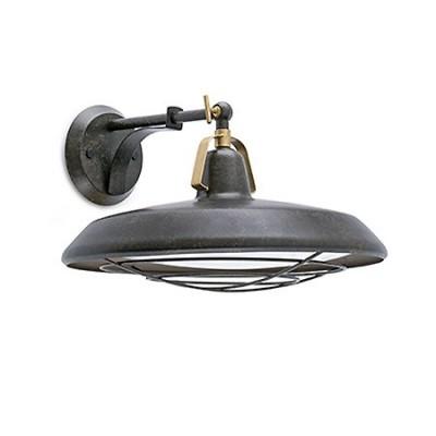 Aplique iluminación exterior Plet LED en metal marrón óxido