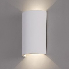 Aplique pared LED Axel en blanco mate