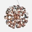 Lámpara colgante Curls metálico rizos en cobre con doce luces