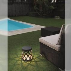 Baliza iluminación exterior LED Shadow gris oscuro