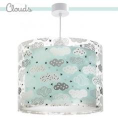 Lámpara infantil Clouds verde aguamarina con nubes