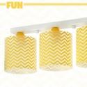Lámpara infantil Fun de tres luces amarillo zig-zag