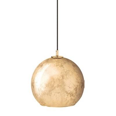 Lámpara colgante bola Aura en pan de oro
