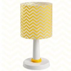 Lámpara sobremesa infantil Fun rayas zig-zag amarillo