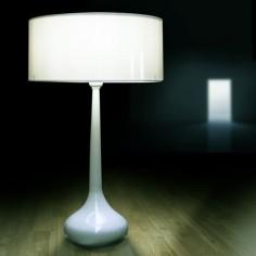 Lámpara sobremesa moderno Mush en color blanco