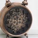 Reloj decorativo sobremesa en cobre mecanismo con movimiento