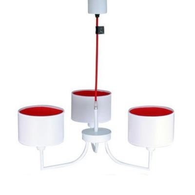 Lámpara Frago con tres luces en blanco y rojo