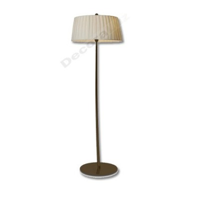 Lámpara de pie moderna marrón pantalla de tela