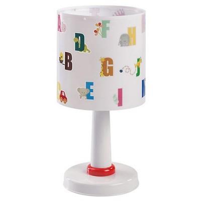 Lámpara sobremesa infantil ABC con letras de colores