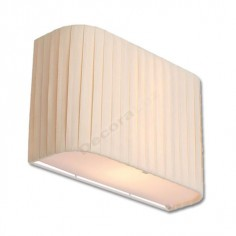 Aplique de pared con pantalla de tela 2 luces E27