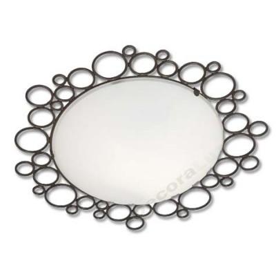 Plafón de forja en círculos con cristal traslúcido redondo