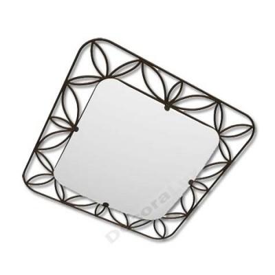 Plafón con cristal blanco cuadrado forja tipo hojas