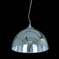 Lámpara colgante en cromo con interior de cristales espejo