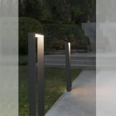 Baliza iluminación exterior LED Alp metal gris oscuro y opal