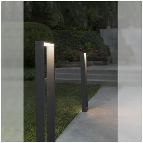Comprar baliza iluminaci n exterior led alp metal gris for Balizas iluminacion exterior