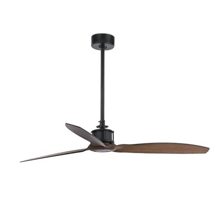 Comprar ventilador de techo just fan negro y madera con tres palas - Ventiladores de techo de madera ...