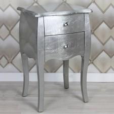 Mesita Silver en pan de plata con dos cajones
