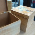 Set dos cajas de madera con búhos de colores