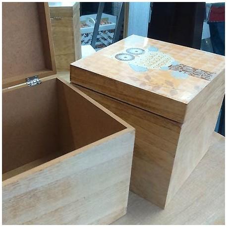 Comprar set dos cajas de madera con b hos de colores - Cajas de madera online ...