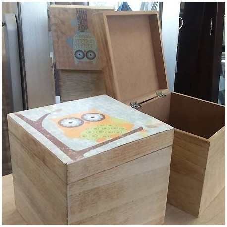 Comprar set dos cajas de madera con b hos de colores - Comprar cajas de madera para decorar ...
