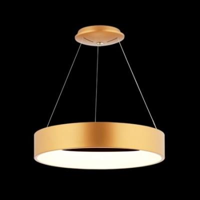 Lámpara colgante LED de diseño Anneau D'or en oro mate rosé