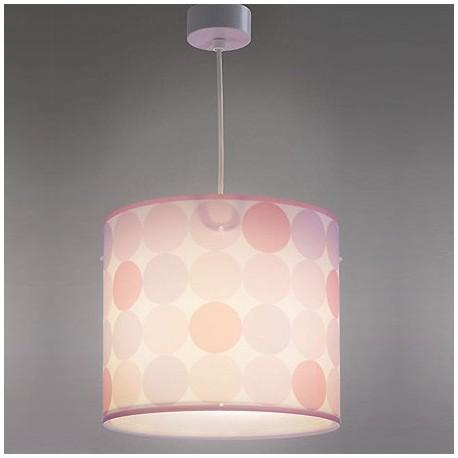 rosa colgante en Comprar lunares Lámpara infantil Colors con q35L4ARj