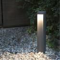 Lámpara baliza para exterior Chandra LED en gris oscuro
