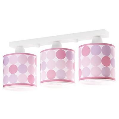 Lámpara infantil de tres luces Colors con círculos rosas, fucsias y morados