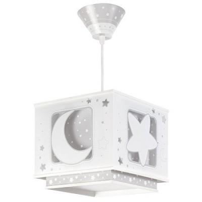 Colgante infantil Moon Light en blanco y gris con pantalla cuadrada