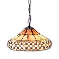 Lámpara colgante tiffany 280 cristales 3 E27 60W