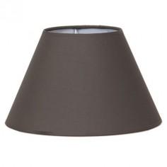 Pantalla para lámpara 45 cm tejido Cotonet color ceniza