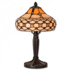 Lámpara de noche en metal 136 cristales tiffany