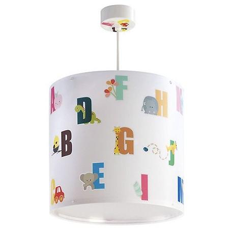 Comprar l mpara de techo infantil abc en blanco con letras de colores - Lamparas de techo infantil ...