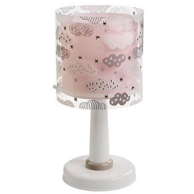 Lámpara sobremesa infantil Clouds en rosa con nubes