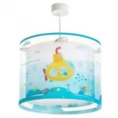 Lámpara infantil colgante Submarine con submarino en colores