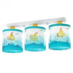 Lámpara tres luces infantil Submarine en azul y amarillo