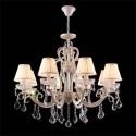 Lámpara Triumph Elegant de ocho luces en color crema