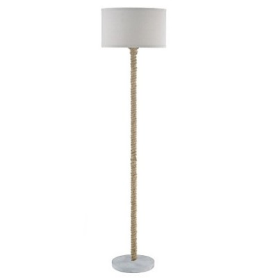 Lámpara de pie vintage Trazo cuerda con pantalla crema