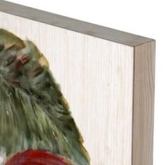 Set de tres lienzos de flamencos en madera