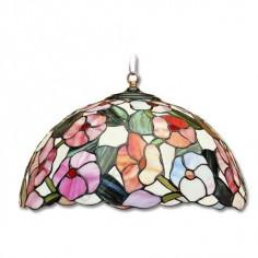 Lámpara colgante pantalla semiesfera tiffany 3 luces